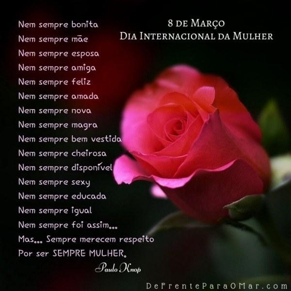 8 de Março, dia Internacional da Mulher - Parabéns!