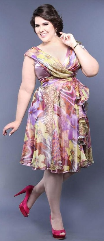 06b-dress-plus-size - vestido florido