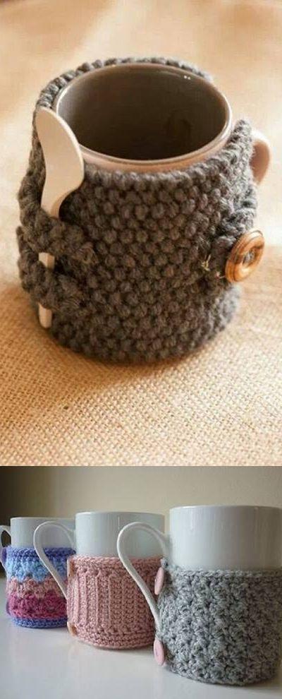 capa para canecas com suporte de colher