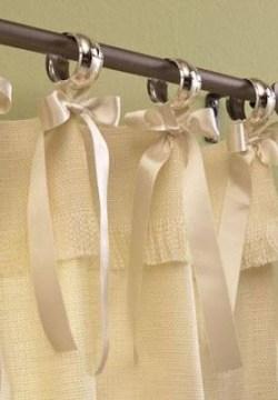 cortina de cozinha com laço