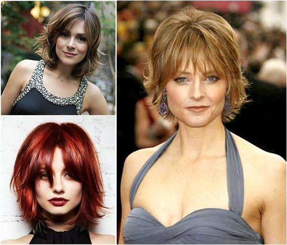 cortes de cabelo com franja - moda anti-idade - frange haircut - jodie foster