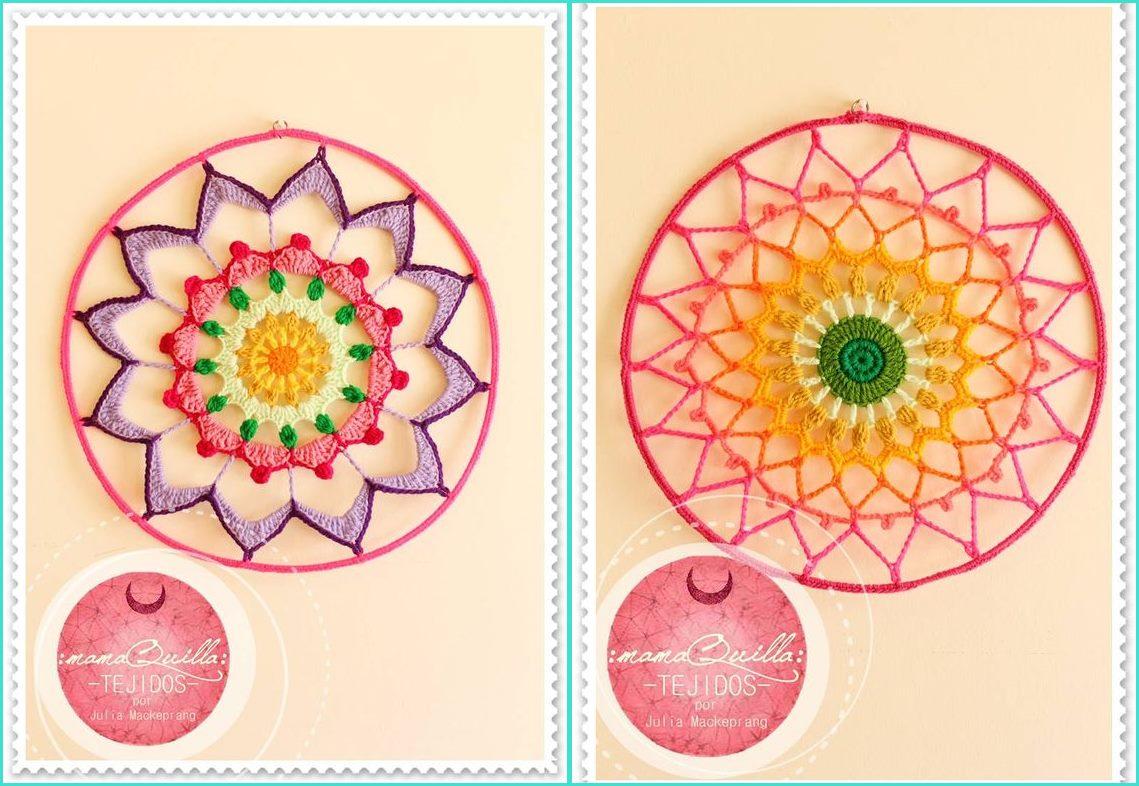 Mandala em crochê decoração parede - Benefícios e cores da mandala