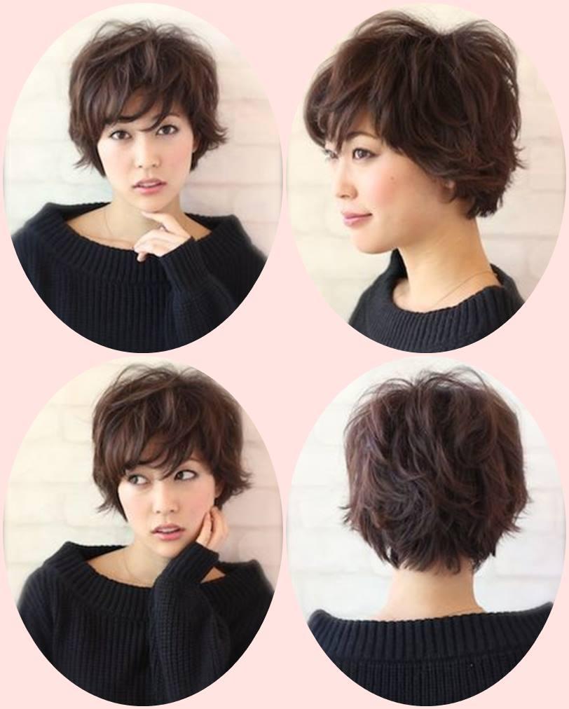 Corte de cabelo curto para orientais