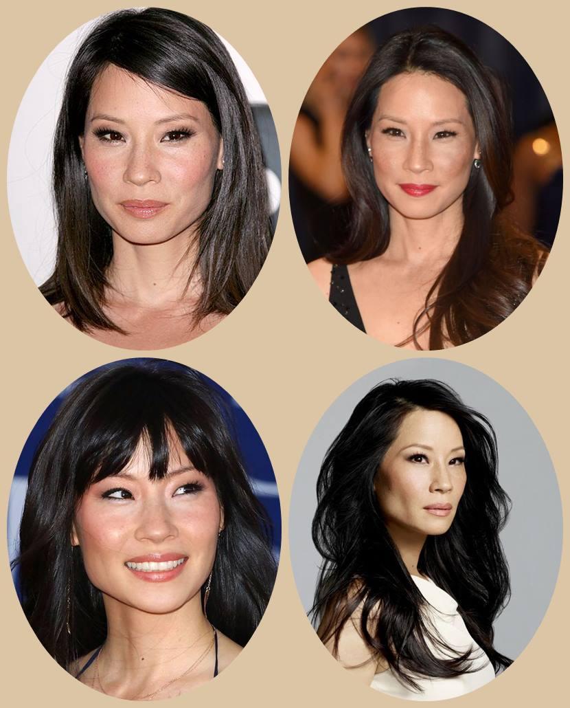 Cortes de cabelo para orientais - Aian haircut  Lucy Liu