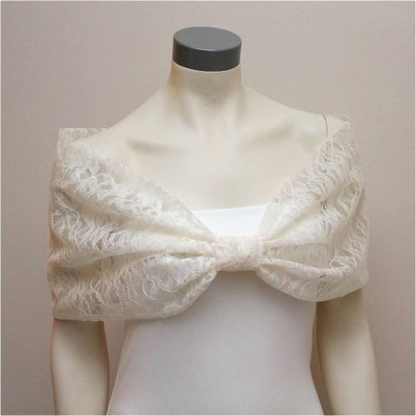 03-estola ou echarpe para festa de casamento renda - diy - faça você mesmo - costura