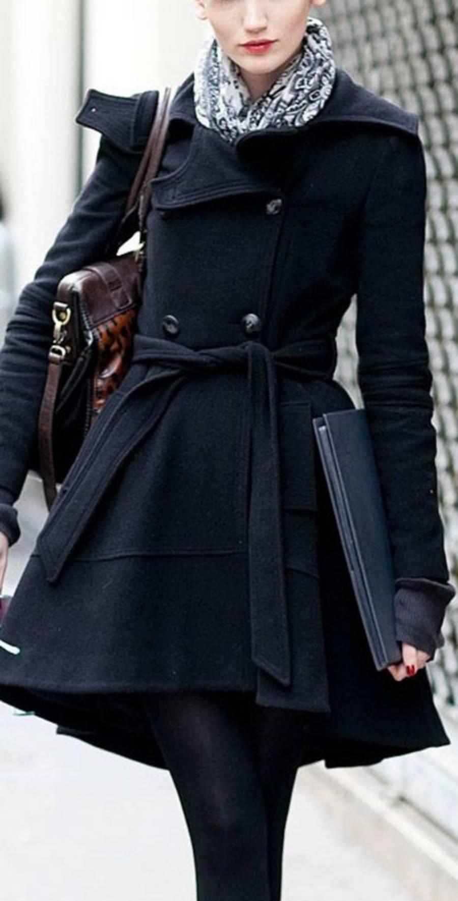 Casacos de inverno preto
