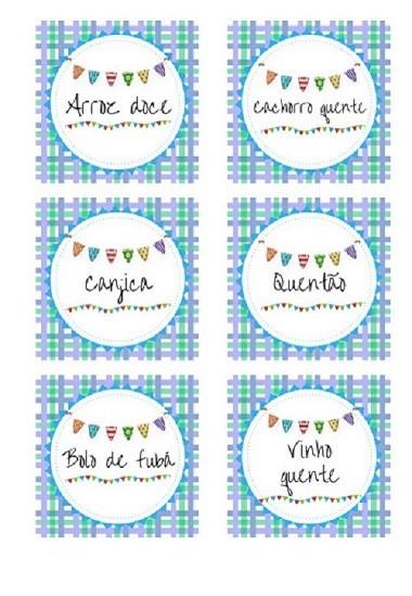 É gratis!  Baixe e imprima plaquinhas de comidinhas para festa junina