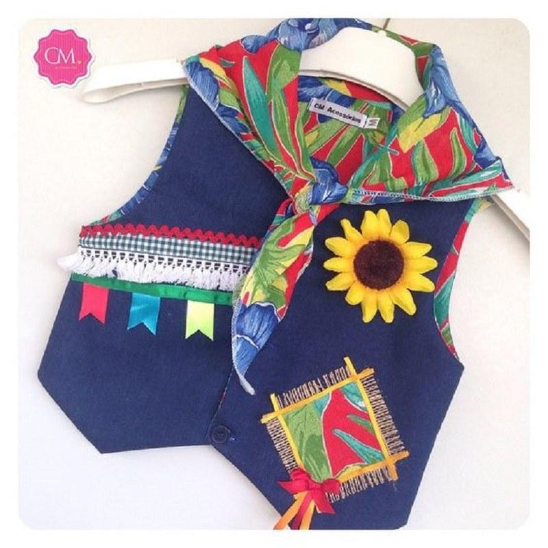 15 ideias de  roupa para festa junina - DIY - colete para menino