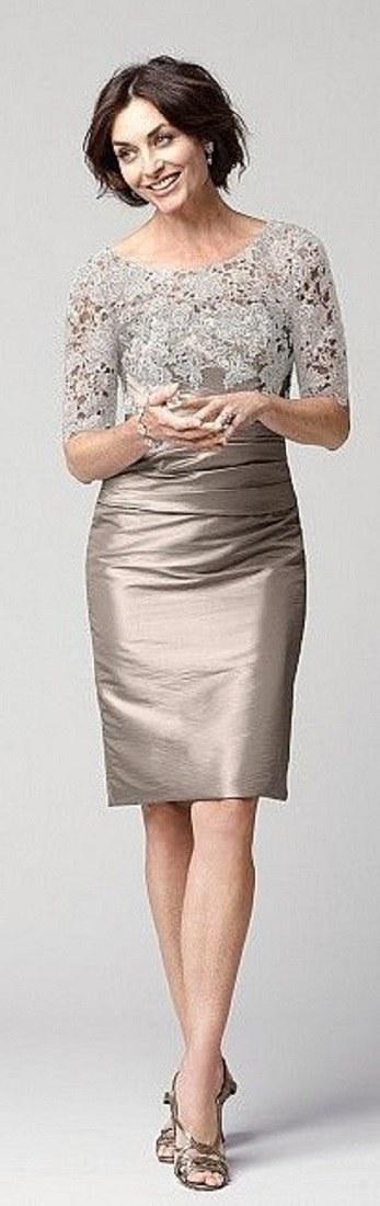 Vestido para bodas de ouro, prata ou bronze