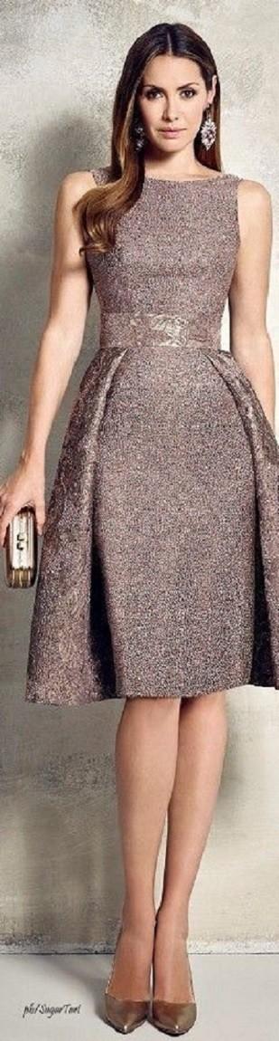 Vestido bronze envelhecido para casamento