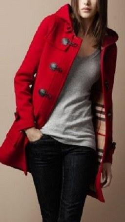 Casaco de inverno de cores quentes - com capuz
