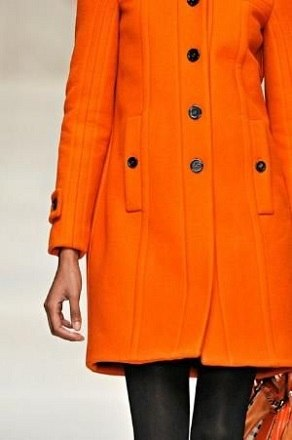 Casaco de cores quentes - laranja