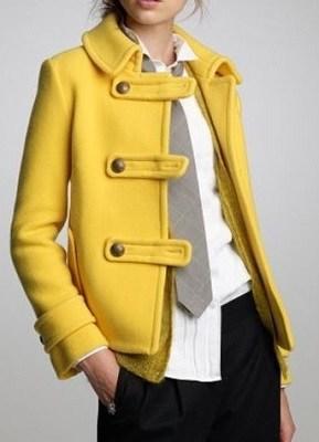 Casaco de cores quentes - amarelo