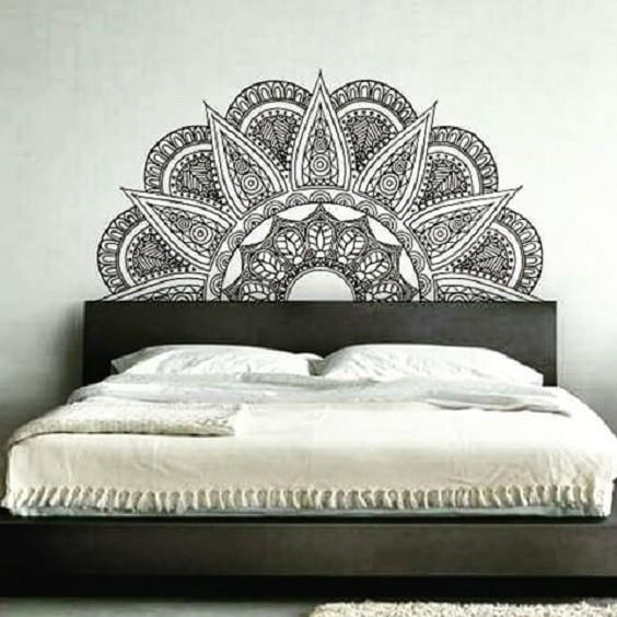Decoração - Adesivo de mandala na parede
