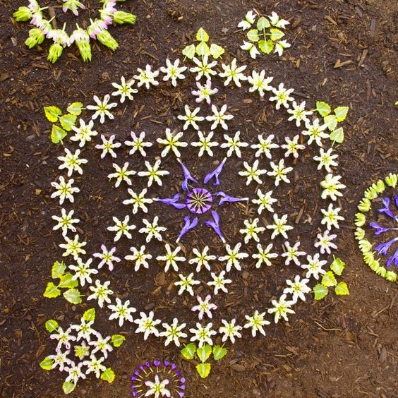O poder da mandala. Mandala de Kathy Klein com flores naturais , belíssimas!