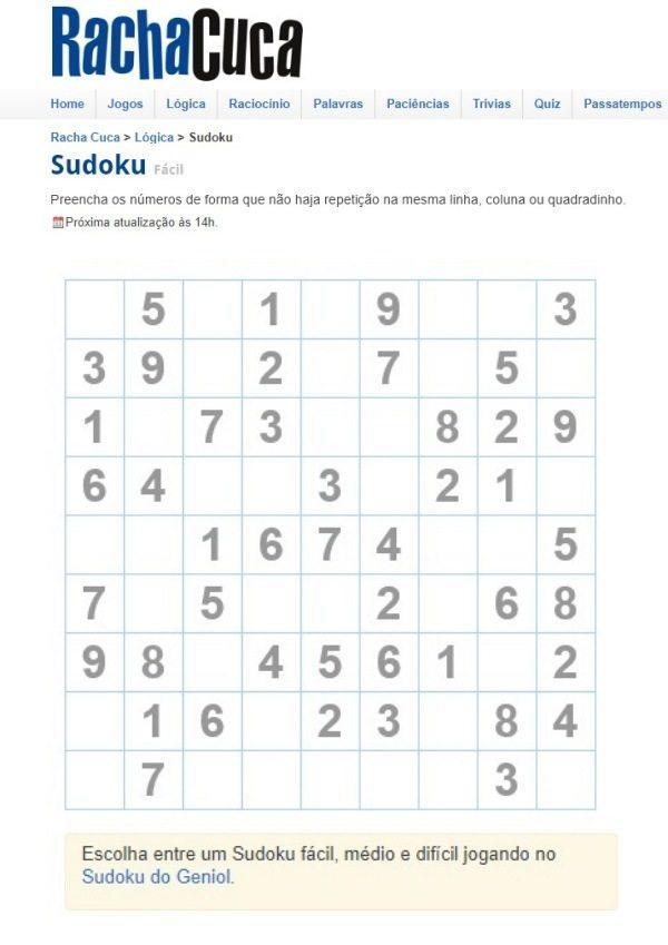 Sudoku grátis para exercitar a mente, ideias para a terceira idade