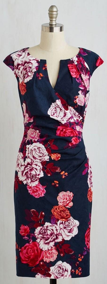 Moda anti-idade:  Vestido com estampas florais