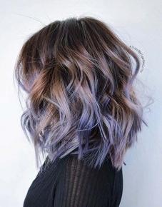 18-cor de cabelo roxo