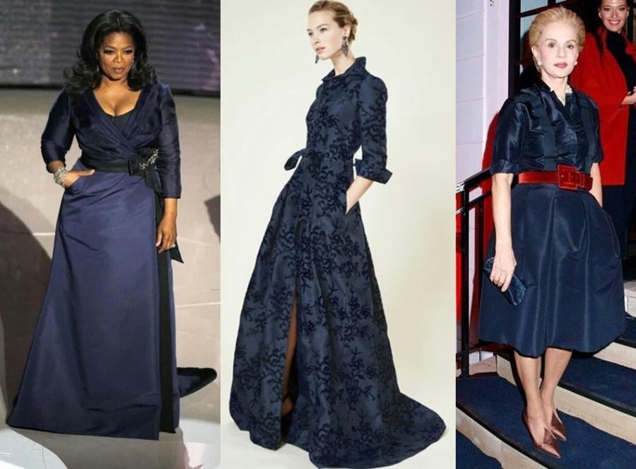 famosas plus size - Oprah Winfrey com carolina Herrera