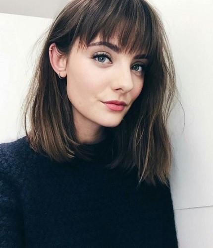 corte de cabelo medio - blunt cunt hair