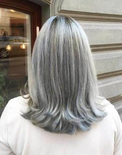 corte de cabelo medio - grisalhos - silver hair