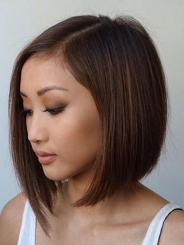 cortes de cabelo para orientais - corte médio reto