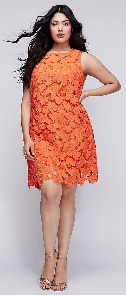 Moda plus size - vestido laranja