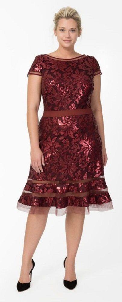 Moda plus size para festas Natal e Reveillon - vestido vermelho de renda