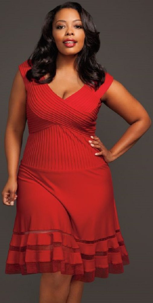 Moda plus size para festas Natal e Reveillon - vestido vermelho