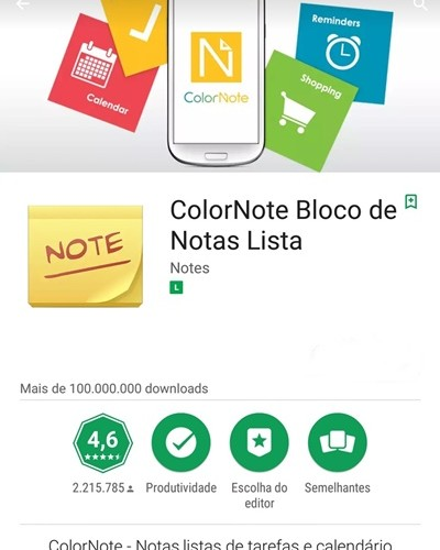 app color note - aplicativos uteis para 50+ 60+