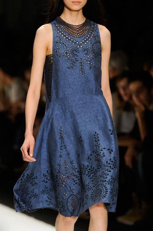 Vestido azul , blue dress , indigo - significado da cor azul