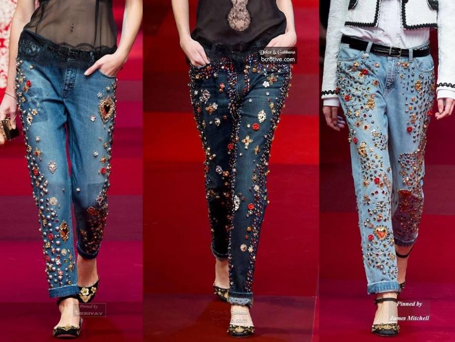 Jeans para festas de fim de ano
