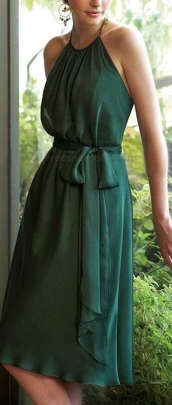 Vestido verde para festas - 50+, 60+