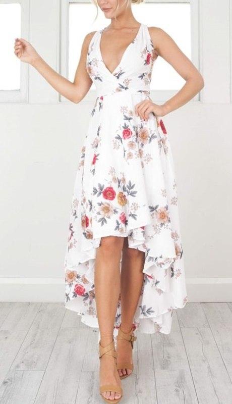 vestido floral para festas de fim de ano