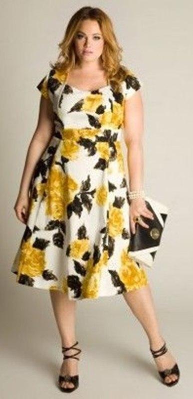 moda anti-idade - vestido estampado floral para festas - 50+ 60+ plus size
