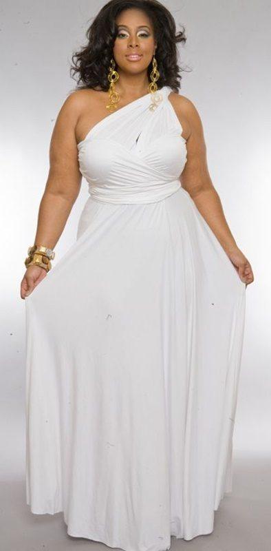 Vestido branco para o Reveillon - plus size - 50+ 60+