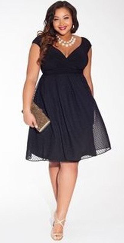 moda anti-idade - vestido preto para festas plus size