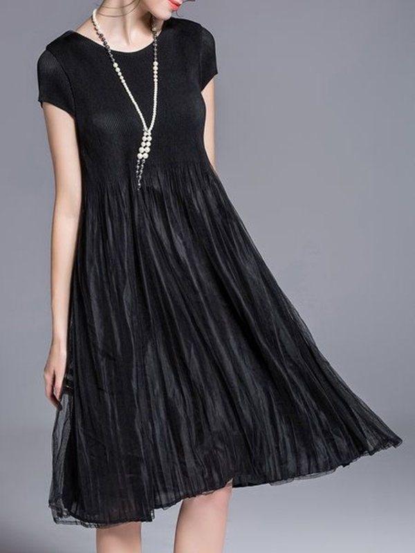 vestido preto para festas - moda anti-idade 50+ 60+