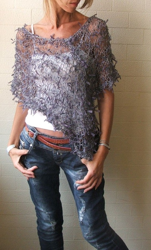 xale em tricô - DIY