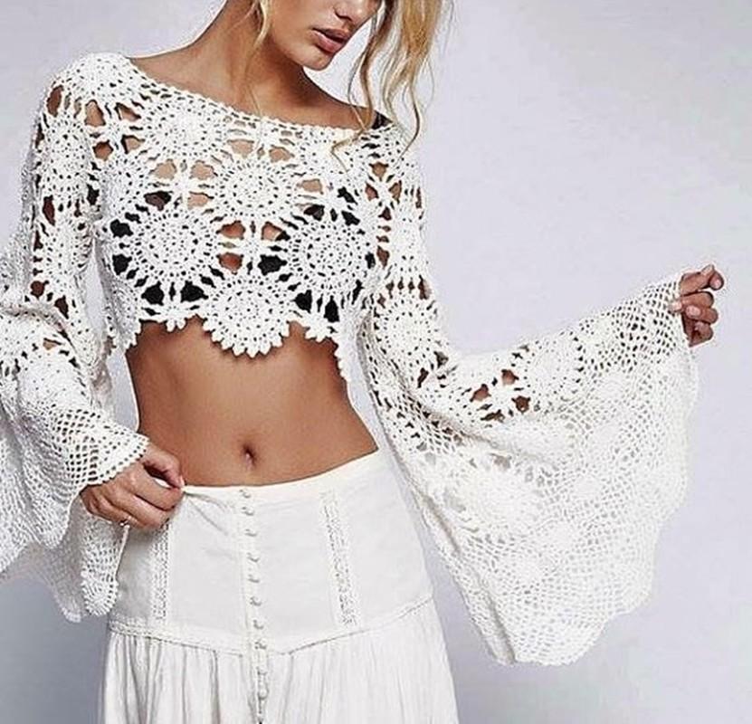 blusinha de crochê - DIY