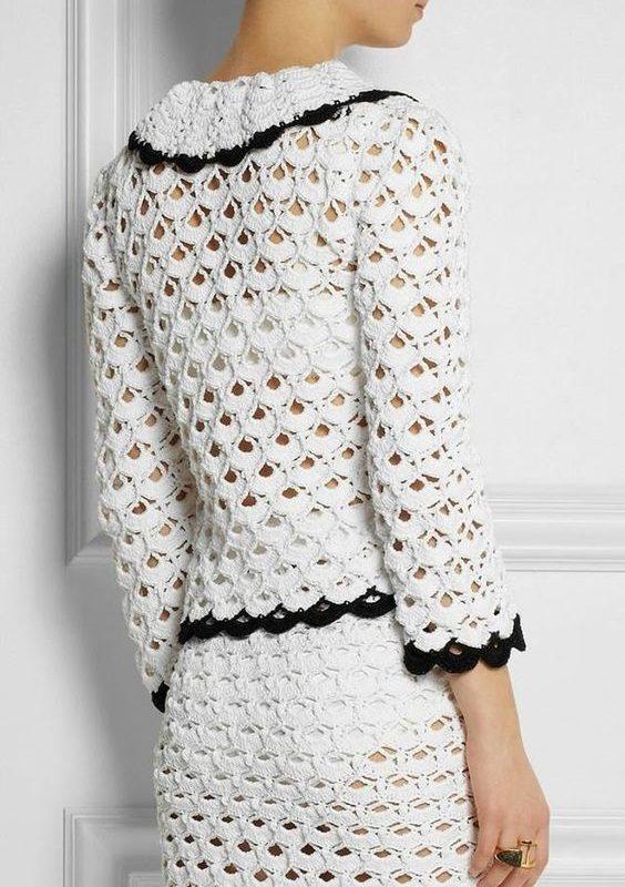 blusa bolero em crochê - faça você mesma