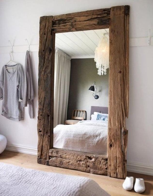 decorar com espelho com moldura rústica