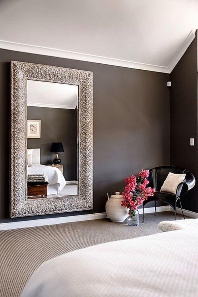 decoração com espelho do quarto