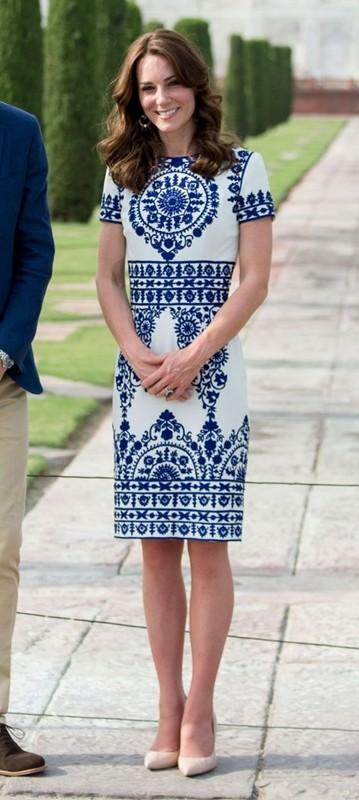 moda azul e branco, Kate Middleton, estampa azulejo portuguesa
