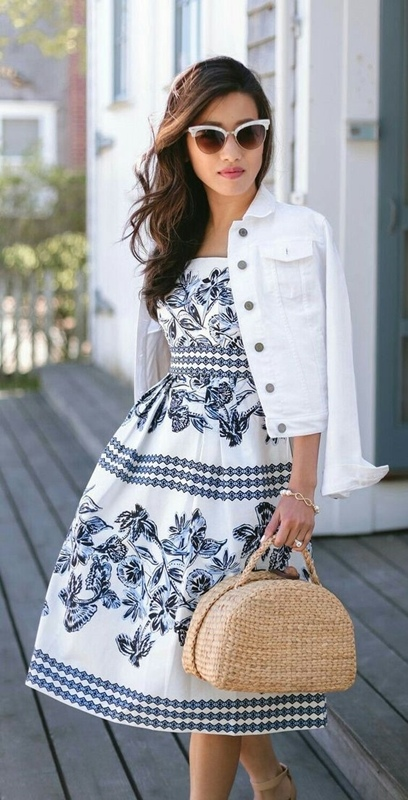 White and black fashion, moda anti-idade branco e azul