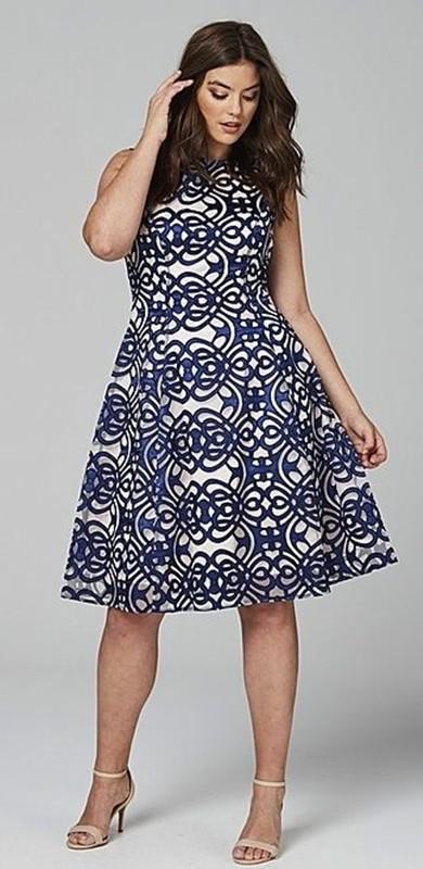 blue and white dress, vestido estampado azul e branco