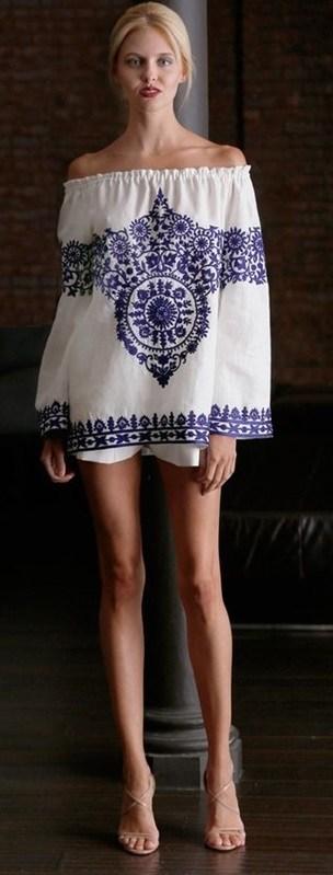 moda azul e branco, estampa azulejo portugues