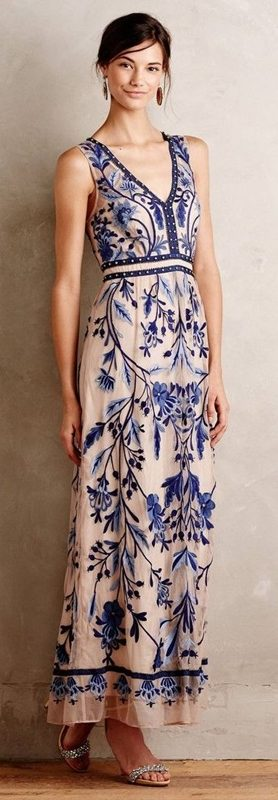 Moda anti-idade, estampa porcelana chinesa, azul e branco