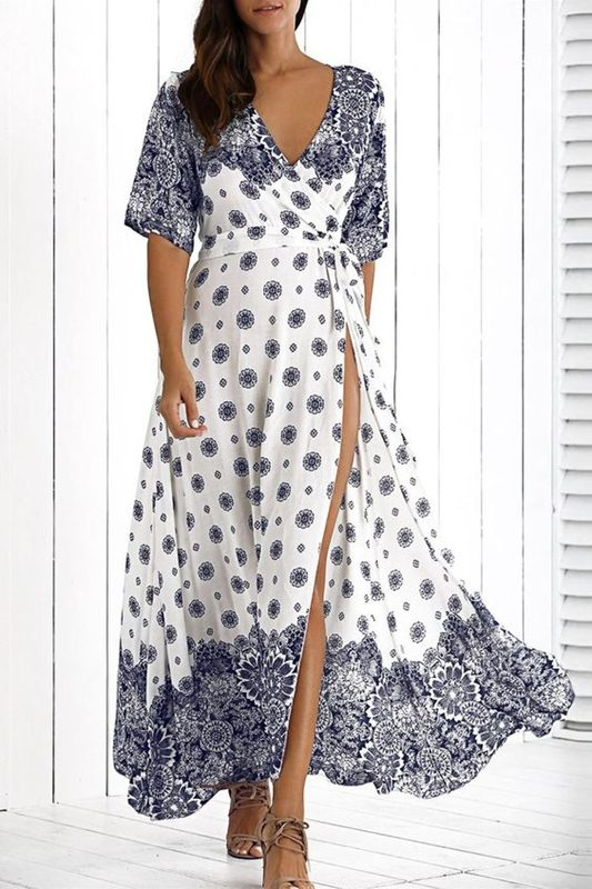 Moda anti-idade, estampa azul e branco , moda senhoras, blue and white fashion