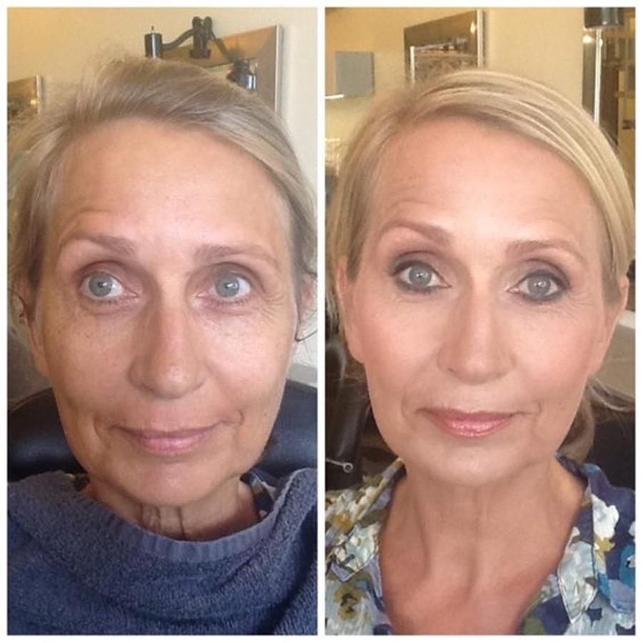 antes e depois - cabelo e maquiagem para senhoras